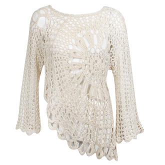 View Item Cream Long Sleeve Crochet Top